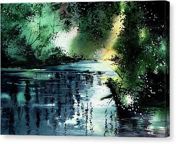 Stillness Speaks 2 Canvas Print by Anil Nene