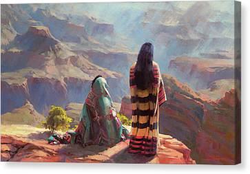 Southwest Landscape Canvas Print - Stillness by Steve Henderson