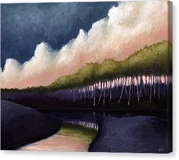 Purple Shadow Canvas Print - Stillwater Convergence by Ethan Harris