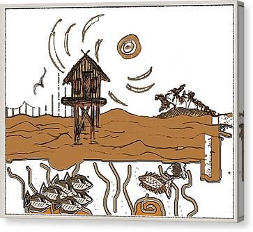 Stilt House Canvas Print by W Gilroy