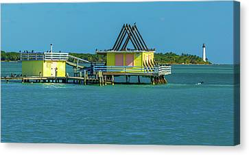 Stiltsville/ Cape Florida Lighthouse  Canvas Print