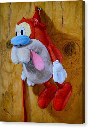 Stimpy Canvas Print by Donelli  DiMaria