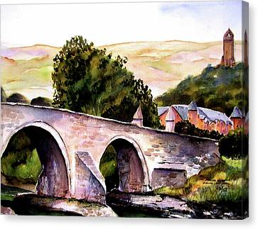 Canvas Print featuring the painting Stirling Bridge by Marti Green