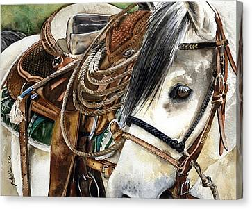 Stirrup Up Canvas Print by Nadi Spencer