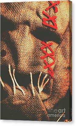 Stitched Up Madness Canvas Print