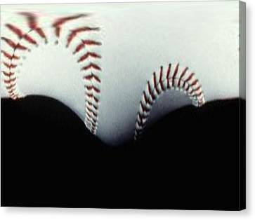 Stitches Of The Game Canvas Print by Tim Allen