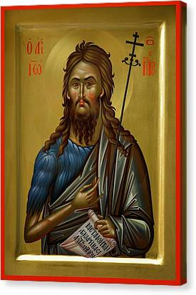 St.john The Baptist Canvas Print by Daniel Neculae