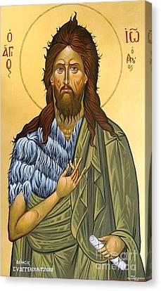 St.john The Baptist Canvas Print by George Siaba