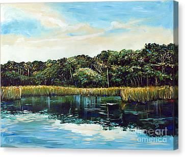 St.johns River Canvas Print by Linda Olsen