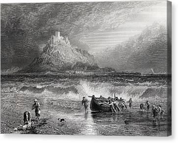 St.michael S Mount, Cornwall. Print Canvas Print by Vintage Design Pics