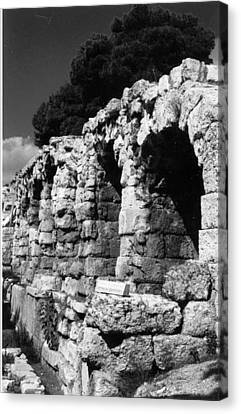 Stoa Of Eumenes Athens Canvas Print by Susan Chandler