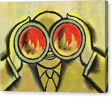 Outlook Canvas Print - Stock Market Risk Outlook by Leon Zernitsky