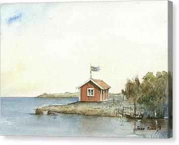 Stockholm Archipelago Canvas Print by Juan Bosco