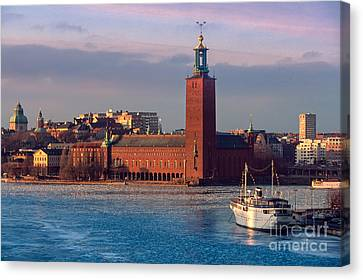 Europa Canvas Print - Stockholm City Hall by Inge Johnsson