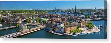 Stockholm Panorama Canvas Print