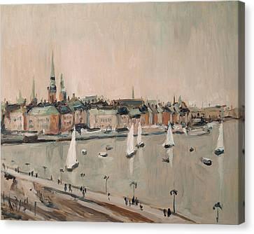 Stockholm Regatta Canvas Print by Nop Briex