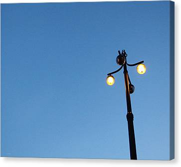 Stockholm Street Lamp Canvas Print by Linda Woods
