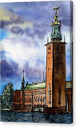 Stockholm Sweden Canvas Print by Irina Sztukowski