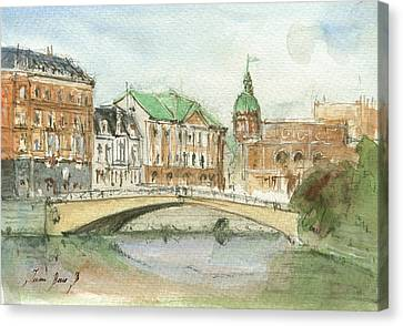 Stockholm Sweden Canvas Print by Juan Bosco