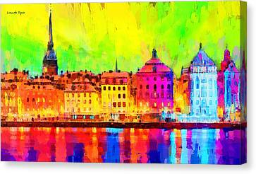 Stockholm Sweden - Pa Canvas Print by Leonardo Digenio