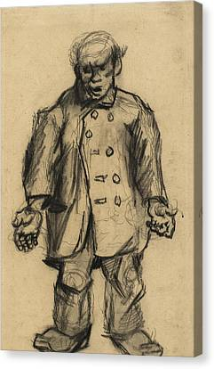Stocky Man, 1885 01 Canvas Print by Vincent Van Gogh