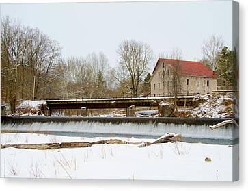 Stocton New Jersey - Prallsville Mills Canvas Print by Bill Cannon