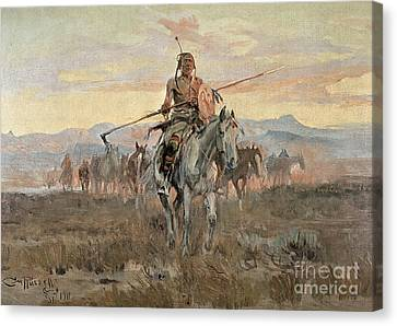 Stolen Horses Canvas Print by Charles Marion Russell