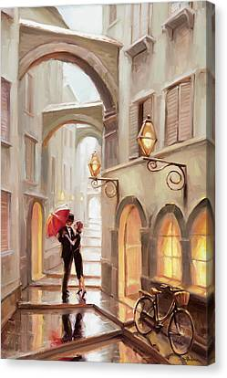 Kiss Canvas Print - Stolen Kiss by Steve Henderson
