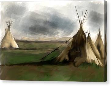 Canvas Print featuring the painting Stolen Spirit  by Iconic Images Art Gallery David Pucciarelli