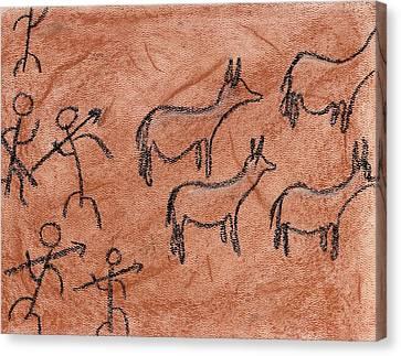 Stone Age Hunt Canvas Print