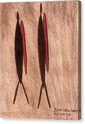 Stone Age Men Canvas Print
