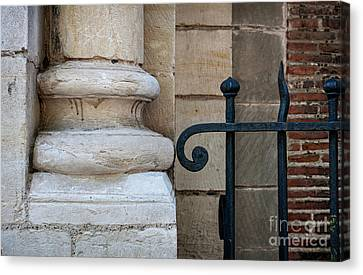 Stone And Metal Canvas Print