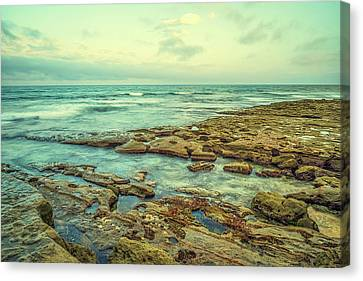 Stone And Sea Canvas Print by Joseph S Giacalone