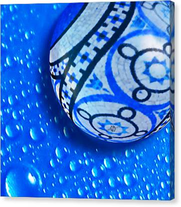Stone And Water Orb Abstract Crop Canvas Print by Tony Rubino