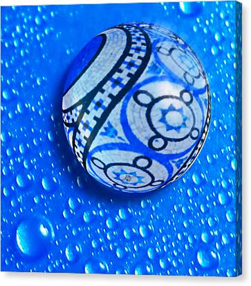 Stone And Water Orb Abstract Canvas Print by Tony Rubino