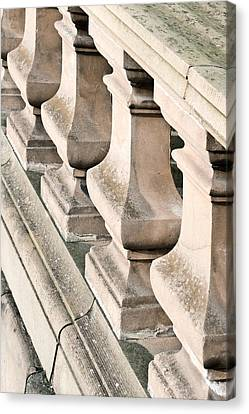 Stone Bannister Canvas Print by Tom Gowanlock