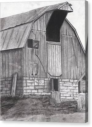 Stone Barn Canvas Print