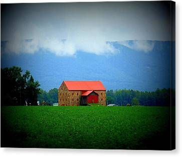 Stone Barn Canvas Print by Charlotte Gray