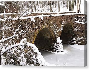 Stone Bridge At Bullrun Virginia Canvas Print