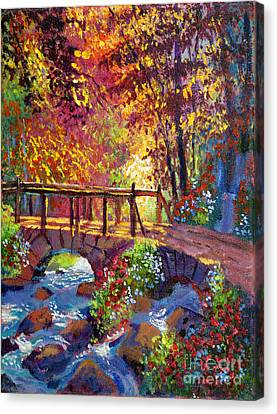 Stone Bridge At Royal Gardens Canvas Print