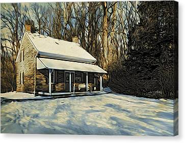Canvas Print - Stony Brook Meeting House by Steven Richman