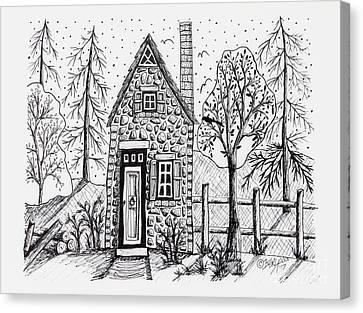 Stone Cottage Canvas Print by Karla Gerard