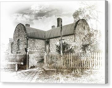 Canvas Print featuring the photograph Stone Cottage by Wayne Sherriff