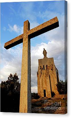 Stone Crucifix Canvas Print by Sami Sarkis