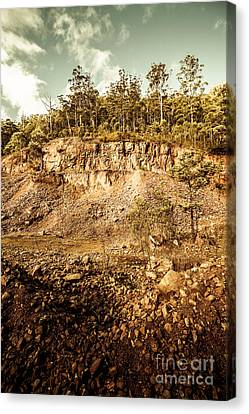 Stone Excavation Pit Canvas Print by Jorgo Photography - Wall Art Gallery