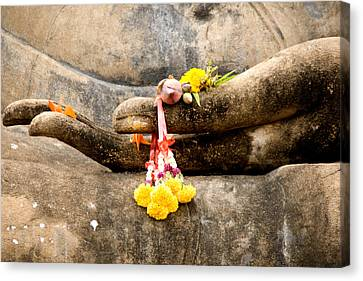 Stone Hand Of Buddha Canvas Print