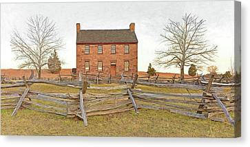 Stone House / Manassas National Battlefield / Winter Morning Canvas Print