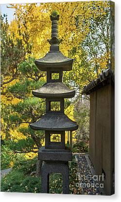 Stone Lantern Fall Canvas Print by Jamie Pham