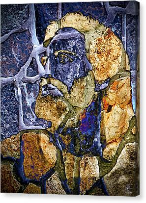 Canvas Print featuring the photograph Stone Man by Pennie  McCracken