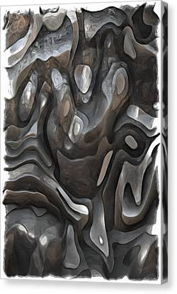 Stone Or Metal Forms Canvas Print by Jack Zulli